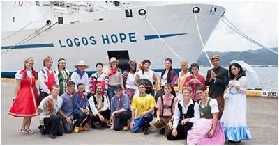 Members of Logos Hope's International crew display their national dress during the visit to Subic Bay, Philippines in June 2013. (Image: GBA Ships)
