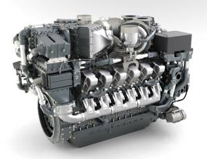 MTU Series 4000 diesel engines are able to meet EPA Tier 4i emissions requirements without aftertreatment. [Pictured: 12V 4000 T94] Images courtesy Tognum Group