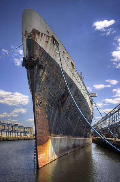 The SS United States' knifelike prow. (Credit: SS United States Conservancy)