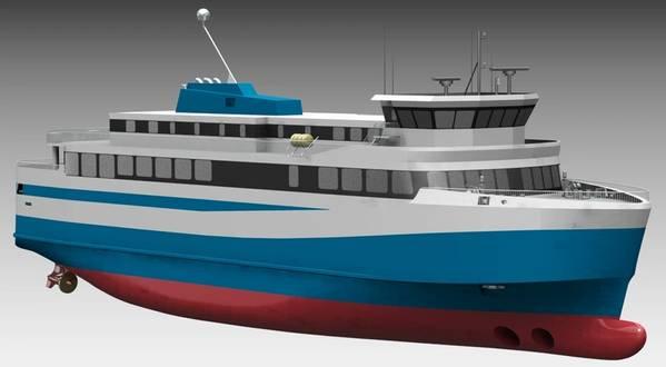 Исландия получит этот новый электрический паром позже в 2019 году, способный перевозить 550 пассажиров и 75 автомобилей, работающих на АББ. Изображение: ABB