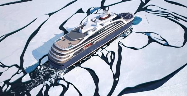 Новый круизный корабль Ponant будет характеризоваться передовыми экологическими характеристиками с решениями LNG Wärtsilä. (Изображение: Ponant)