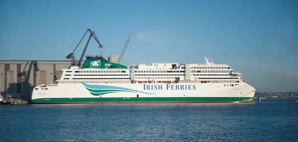 Паром newbuild WB Yeats на пристани FSG (Фото: FSG)