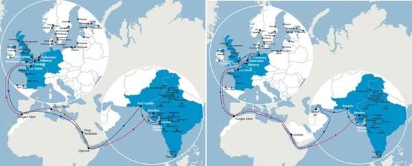 الخريطة: CMA CGM Group.