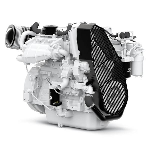 تقوم شركة John Deere Power Systems بشحن المحرك PowerTech 4045SFM85 البحري الجديد إلى مالكي القوارب والبنائين. الصورة: جون ديري باور سيستمز