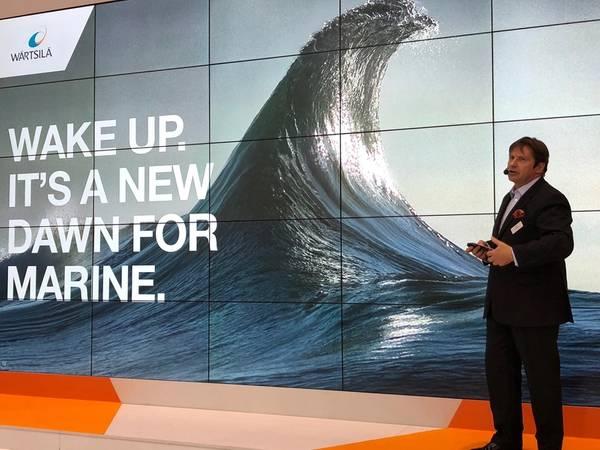 ماركو ريان ، كبير موظفي Digital & EVP ، وارتسيلا (الصورة: جريج تراوثاين)