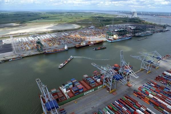 फोटो: एंटवर्प का बंदरगाह