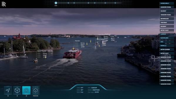 रोल्स-रॉयस की स्थितिजन्य जागरूकता प्रणाली बुद्धिमान सॉफ्टवेयर के साथ कई सेंसरों को फ़्यूज़ करती है। (छवि: आरआर)