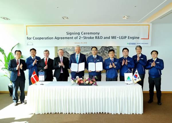 समझौते के हस्ताक्षर समारोह में प्रतिनिधि (फोटो: मैन डीजल और टर्बो)