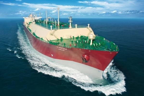 ファイルイメージ:海の典型的なLNG船(CREDIT:QGTC)