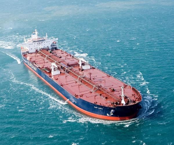 ファイル画像:海上で進行中のeuroNav VLCC(クレジット:EuroNav)