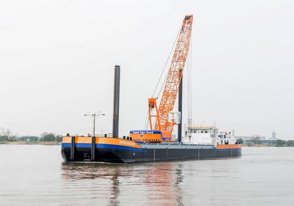 为庆祝150周年,Van Oord首先命名了第一艘液化天然气船Werkendam