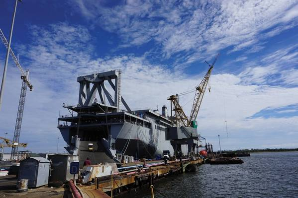 位于南卡罗来纳州查尔斯顿的Detyens Shipyards公司将获得781,315美元的奖金。 (照片:Eric Haun)