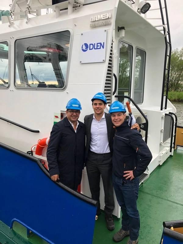 厄瓜多尔Corpetrolsa集团接收三艘达曼斯坦拖船(照片:达门船厂)