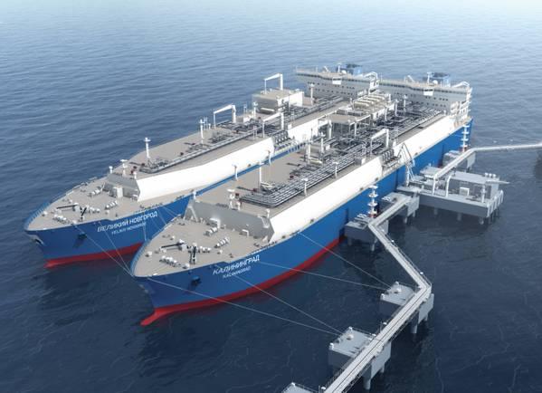 图片来源:俄罗斯天然气工业公司加里宁格勒FSRU(MARSHAL VASILEVSKIY)(Flex LNG)