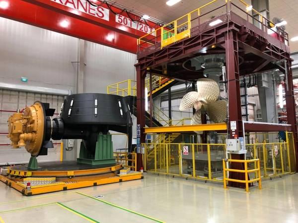 工場でのMTA 628ハイブリッド推進システム(写真:Caterpillar)