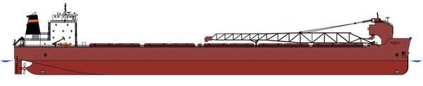 (Bild: Interlake Steamship Company, Schiffsbau in der Bucht von Fincantieri)