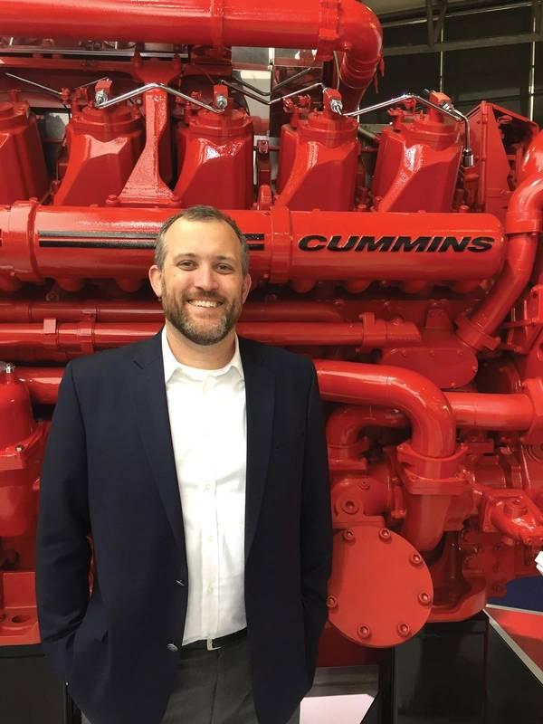 """""""康明斯计划成为电气化领域的领导者,我们相信这一业务领域将提供创新和专注,以确保未来的成功""""康明斯海洋公司的Eddie Brown表示。照片:康明斯海军陆战队"""