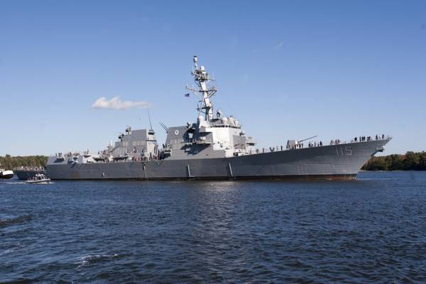 Datei Foto: Zerstörer der Arleigh Burke-Klasse USS Rafael Peralta (DDG 115), in Auftrag gegeben 2017 (Foto der US Navy mit freundlicher Genehmigung von General Dynamics, Bath Iron Works)
