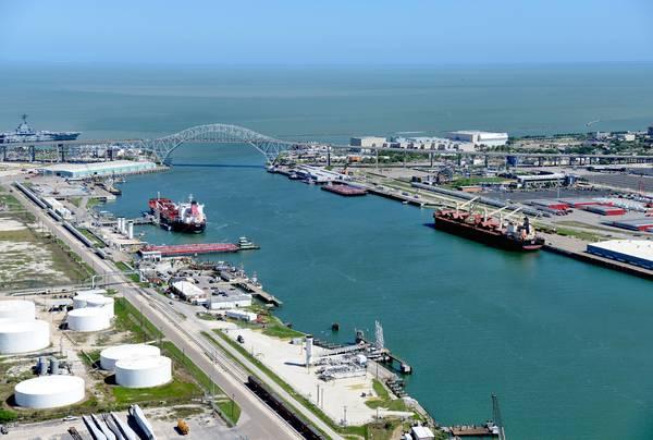 Der Hafen von Corpus Christi, Texas, hat sich zu einem führenden Exporteur von Rohöl entwickelt. KREDIT: Hafen von Fronleichnam