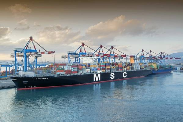 Die MSC Christina (KREDIT: Hafen von Haifa)