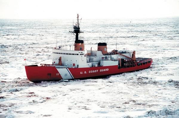 Ein Dateibild des einzigen schweren Eisbrechers der Küstenwache, des Polarsterns. Image CREDIT: USCG