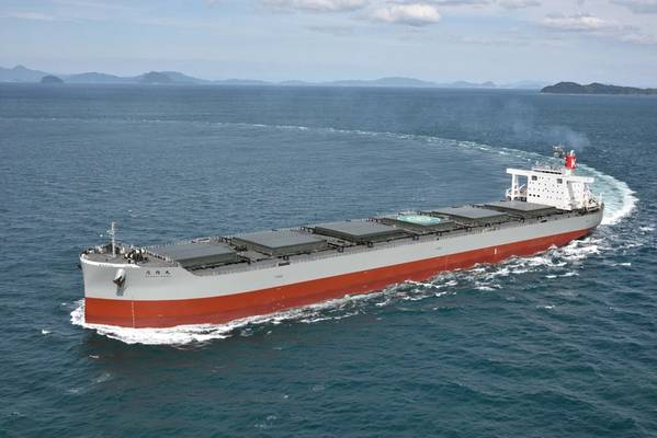 Ein typischer Kohletransporter unterwegs (Credit: K Line)