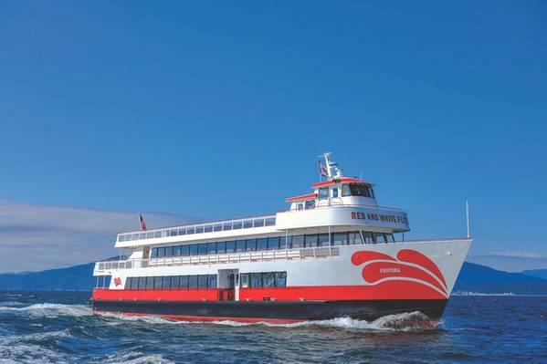 Enhydra هي الخطوة الأولى للأسطول الأحمر والأبيض نحو هدفها المتمثل في الوصول إلى أسطول انبعاثات صفري بحلول عام 2025. (Photo: Red and White Fleet)