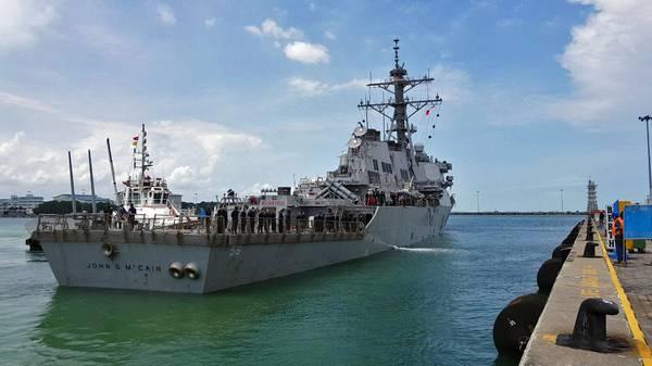 Imagem de arquivo do USS John McCain (Crédito: Marinha dos EUA)