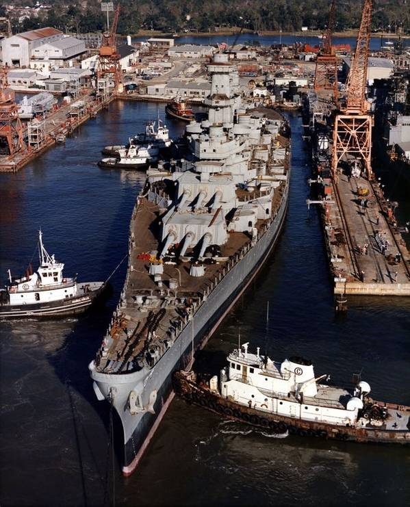 Ingalls Shipbuilding East Bank Foto HII