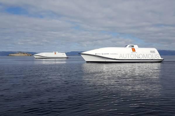KONGSBERGのOcean Space Drones 1と2はH2Hプロジェクトのテストプラットフォームになります(Image:KONGSBERG)