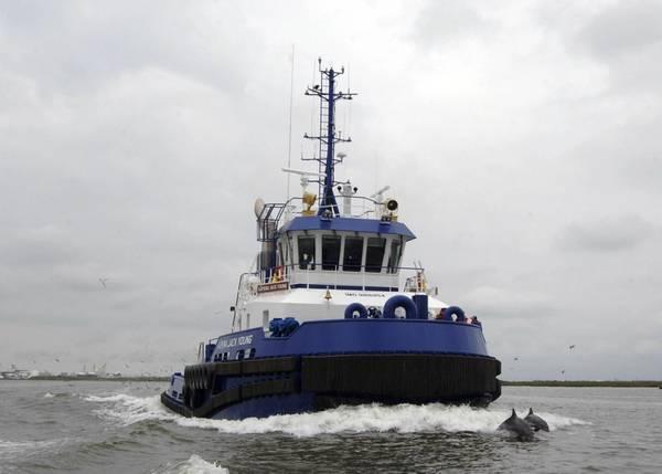 O Kapena Jack Young concluiu testes no mar em Fourchon, Louisiana e foi entregue em 22 de agosto de 2018. CRÉDITO: Jovens Irmãos