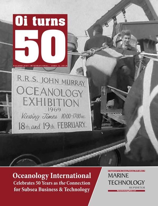 Marine Technology Reporter veröffentlichte eine Beilage zum 50-jährigen Bestehen von Oceanology International. Foto: MTR