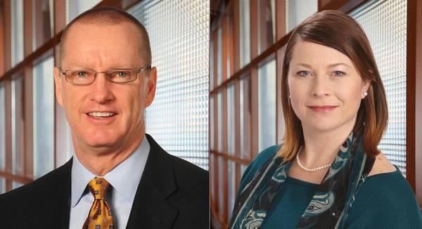 Ο Michael Noone (αριστερά) θα γίνει πρόεδρος της TOTE Maritime στο Πουέρτο Ρίκο και η Grace Greene (δεξιά) θα αναλάβει το ρόλο του Προέδρου στην TOTE Maritime Alaska (Φωτογραφίες: TOTE)