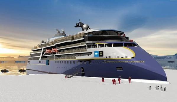 National Geographic Endurance para Lindblad. Fuente: Ulstein Verft AS