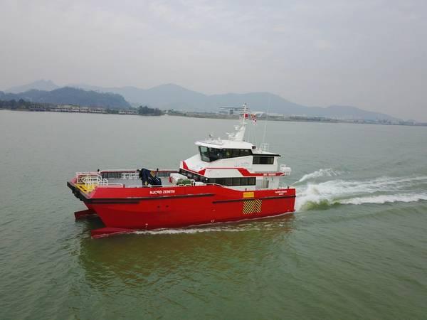 Το Njord Zenith είναι το πρώτο από τα δύο νέα πλοία μεταφοράς πληρώματος για το Njord Offshore (Φωτογραφία: BMT)