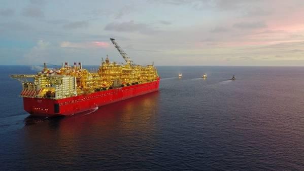 Prelude FLNG (foto de arquivo cortesia da Shell)