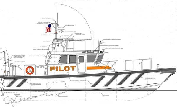Renderização do barco piloto Gladding-Hearn (CREDIT: Gladding-Hearn)