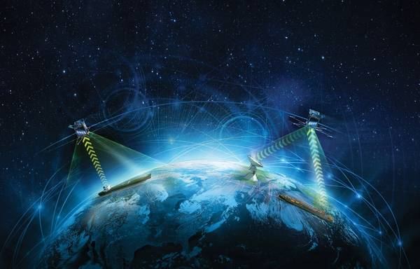 A Rolls-Royce e a Agência Espacial Européia (ESA) assinaram um acordo de cooperação pioneiro que busca atividades espaciais em apoio ao transporte autônomo, controlado remotamente, e promove a inovação na logística digital europeia. Imagem: Cortesia Rolls-Royce Marine.