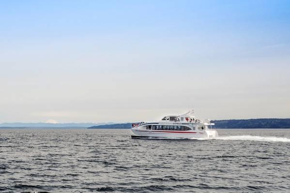 το Saratoga, το νεότερο μέλος του στόλου παρακολούθησης φαλαινών του PSE. (CREDIT: AAM)