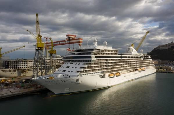 O Seven Seas Splendor é o segundo navio de cruzeiro construído pela Finacntieri para a Regent Seven Seas Cruises (Foto: Fincantieri)