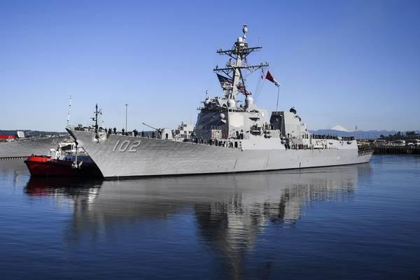 USS Sampson (foto da Marinha dos EUA por Alex VanâtLeven)