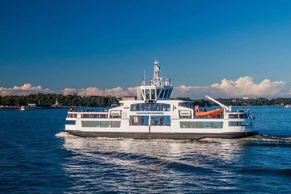 El ferry de pasajeros Suomenlinna II, modernizado con ABB Ability Marine Pilot Control, fue pilotado de forma remota a través del área de prueba cerca del puerto de Helsinki en noviembre de 2018. Foto: ABB