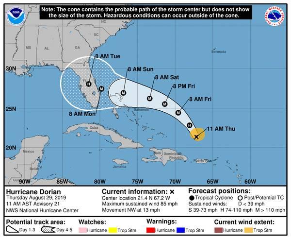 fuente: NOAA / Centro Nacional de Huracanes