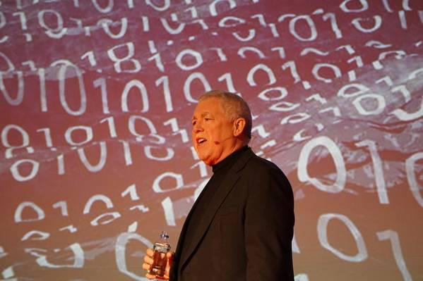 الرئيس التنفيذي لشركة ترانساس فرانك كولز يلقي الكلمة الافتتاحية في مؤتمر ترانساس العالمي لعام 2018 في 7 مارس في فانكوفر ، كولومبيا البريطانية (الصورة: إريك هاون)