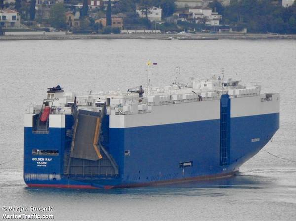 ملف الصورة: The M / V GOLDEN_RAY / CREDIT MarineTraffic.Com / © Marjan Stropnik