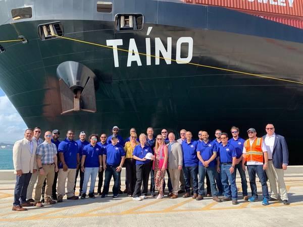 जहाज, चालक दल, टर्मिनल टीम और क्रॉली।