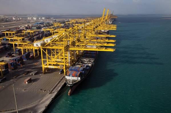 Atualmente, a DP World tem cinco terminais em Dubai, três no principal porto de Jebel Ali. Crédito da foto: DP World