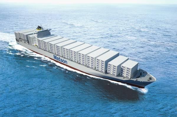 File Image: Ein Rendering von Matsons Aloha-Klasse-Containerschiff.