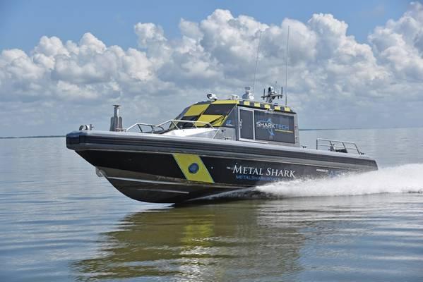 """Metal Shark: Metal Shark ενώνουν τις δυνάμεις τους με την L3 ASV Global για την εισαγωγή των αυτόνομων σκαφών """"Sharktech""""."""