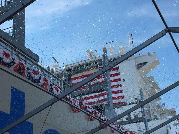 The Inouye: أكبر حاوية مصنوعة في أمريكا وصنعت في الولايات المتحدة (الصورة CREDIT: Marad)